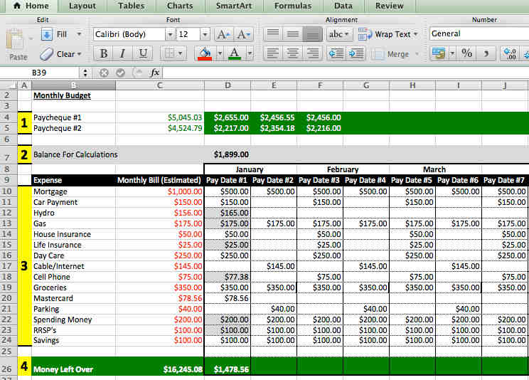 Managing Home Finances Through Excel  Barry And Paul ParkerS